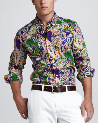 Custom-Fit Paisley Shirt