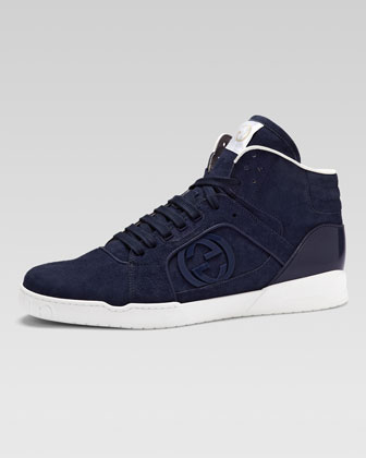 Rebound Suede High-Top Sneaker