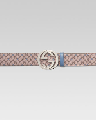 GG PU Stars Belt with G Buckle