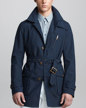 Water-Repellant Caban Jacket