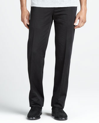 Slim Cotton-Linen Pants