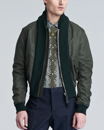 Shawl-Collar Bomber Jacket