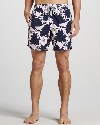 Moorea Printed Swim Trunks