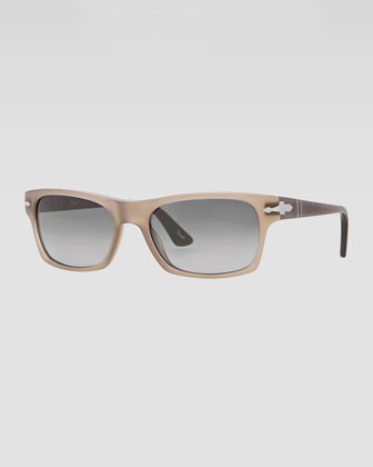 Square Plastic Sunglasses, Gradient Gray