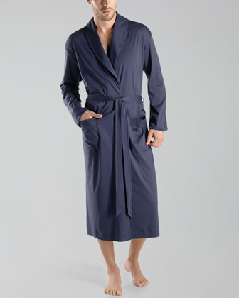 Hanro Clifford Knit Robe, Midnight Navy