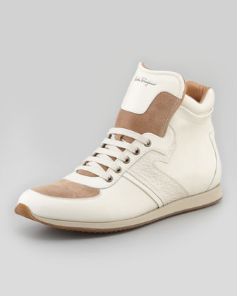 Stanley High-Top Sneaker, Cream