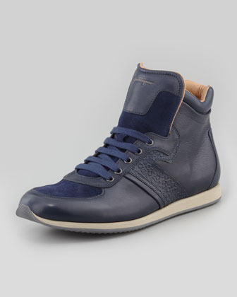 Salvatore Ferragamo Stanley High-top Snea