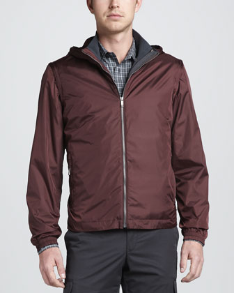 4-in-1 Light-Shell Tech-Fabric Jacket