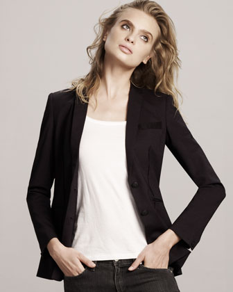 Rag & Bone - Newick Stretch-Wool Blazer :  jacket outerwear designer designer clothing