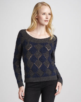 Tamara Diamond-Pattern Sweater