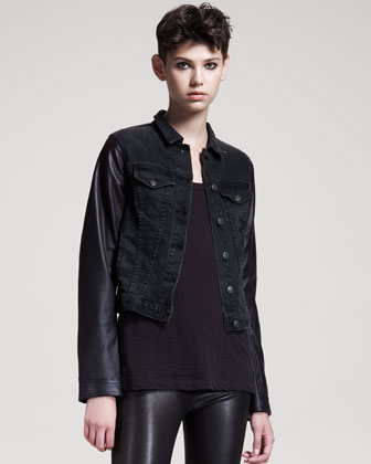 Women's Rag & Bone/jean Rock Leather-trim