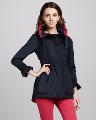 Red Valentino Smocked-waist Anorak Jacket