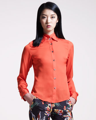 Double-Collar Blouse