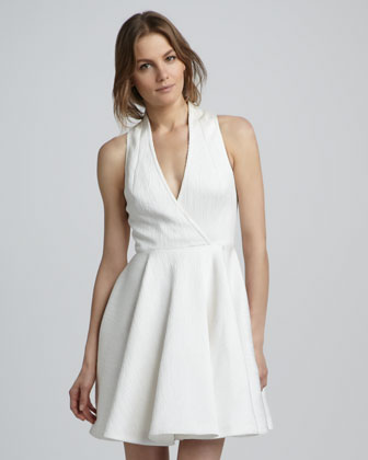 Caroline Faux-Wrap Dress