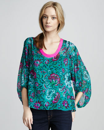 Ginger Garden Printed Blouse