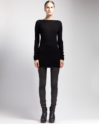Shred-Back Sweater Dress