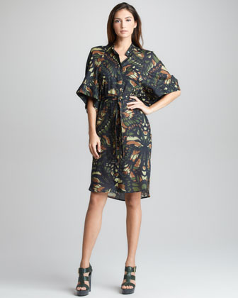 Dragonfly Wing-Print Dress
