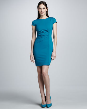 Elie Tahari Toni Fold-neck Dress