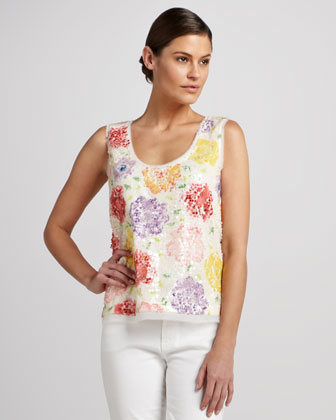 Rosalin Sequined Sleeveless Top