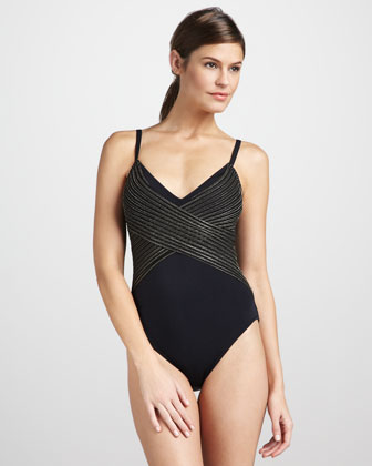 Evening Rose Shimmer One-Piece Swimsuit