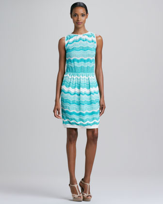 Zigzag Wave Stripe Dress