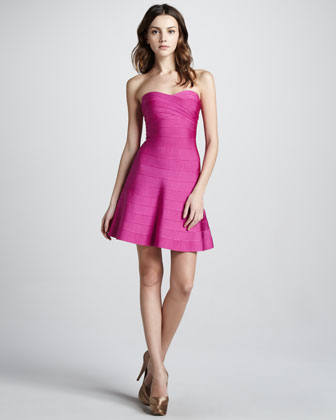 Strapless Flared Bandage Dress