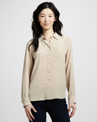 Brett Super Vintage Wash Top, Dune