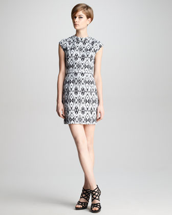 Andes Printed Silk Dress