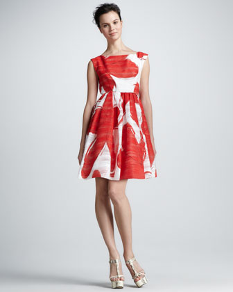 Essie Printed Taffeta Dress