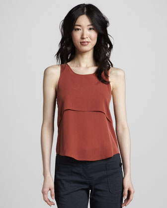 Theory Saleya Tank Top, Terracotta