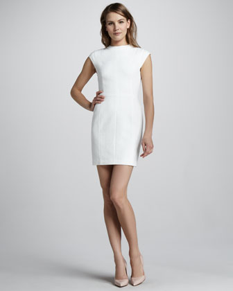 Ancua Cap-Sleeve Jacquard Dress