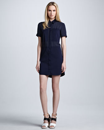 Luxe Crepe Shirtdress