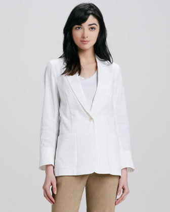Women's Theory Relaxed Linen Blazer