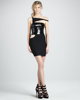 Cutout Combo Bandage Dress