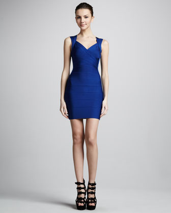 Crisscross Open-Back Bandage Dress