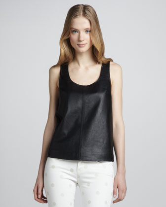Jett Sleeveless Leather Top