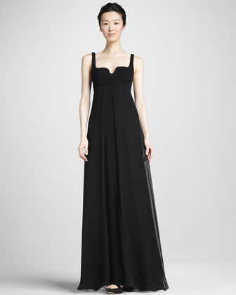 Asti Two Silk Notch-Neck Maxi Dress