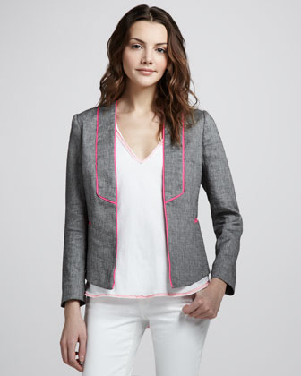 Piped Linen Jacket