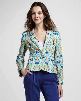 Milly Skinny Printed Jacket