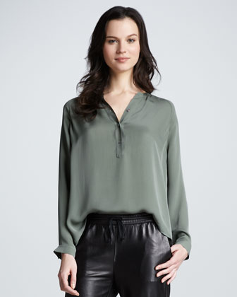 Loose Silk Blouse