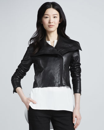 Cropped Asymmetric Jacket
