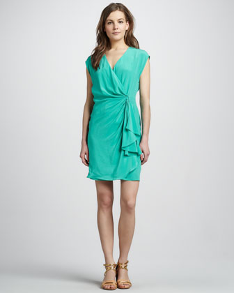 Hannah Draped Dress, Mint