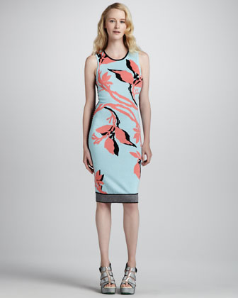Euphoria Printed-Knit Dress