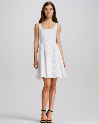 A-Line Polka-Dot Dress