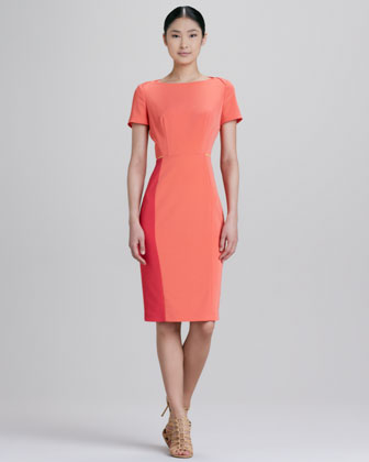 Layla Short-Sleeve Colorblock Dress