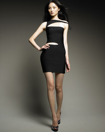 Slashed Bandage Dress