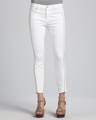 Skinny Jeans with Side Zippers