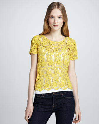 Devine Crochet Lace Top