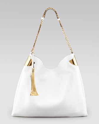 1970 Large Shoulder Bag, White