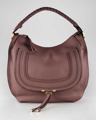 Large Marcie Hobo Bag, Nut